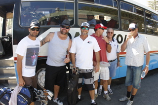 THE LADS AND THE BUS