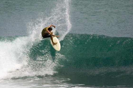Hymie-very tight in the pocket at Bingin-photo Coastalwatch