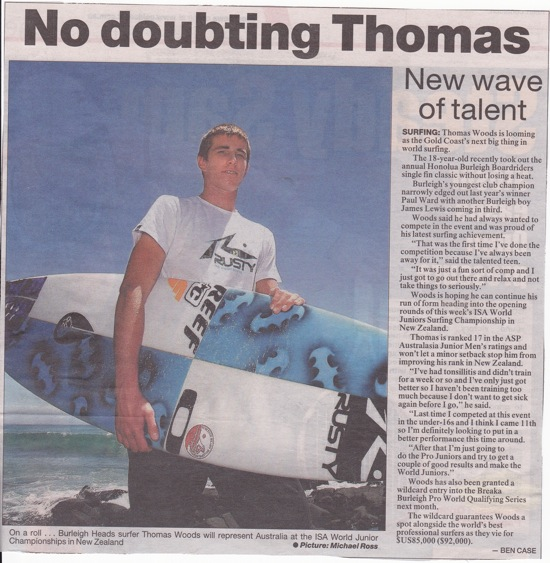 ARTICLE PUBLISHED IN GOLD COAST BULLETIN